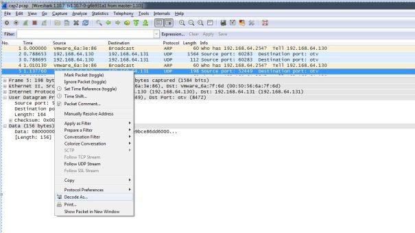 wireshark decode as vxlan