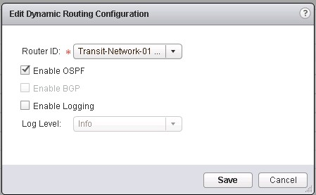Enable the OSPF