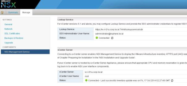 NSX Manager Lookup Service